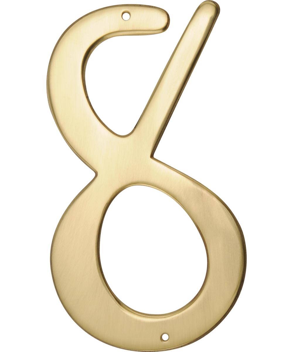 4 in. Nail-On Brass House Number 8 in.