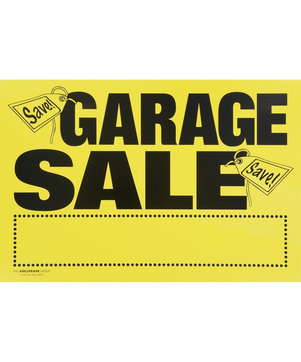 Garage Sale Kit 8 in. X 12 in.