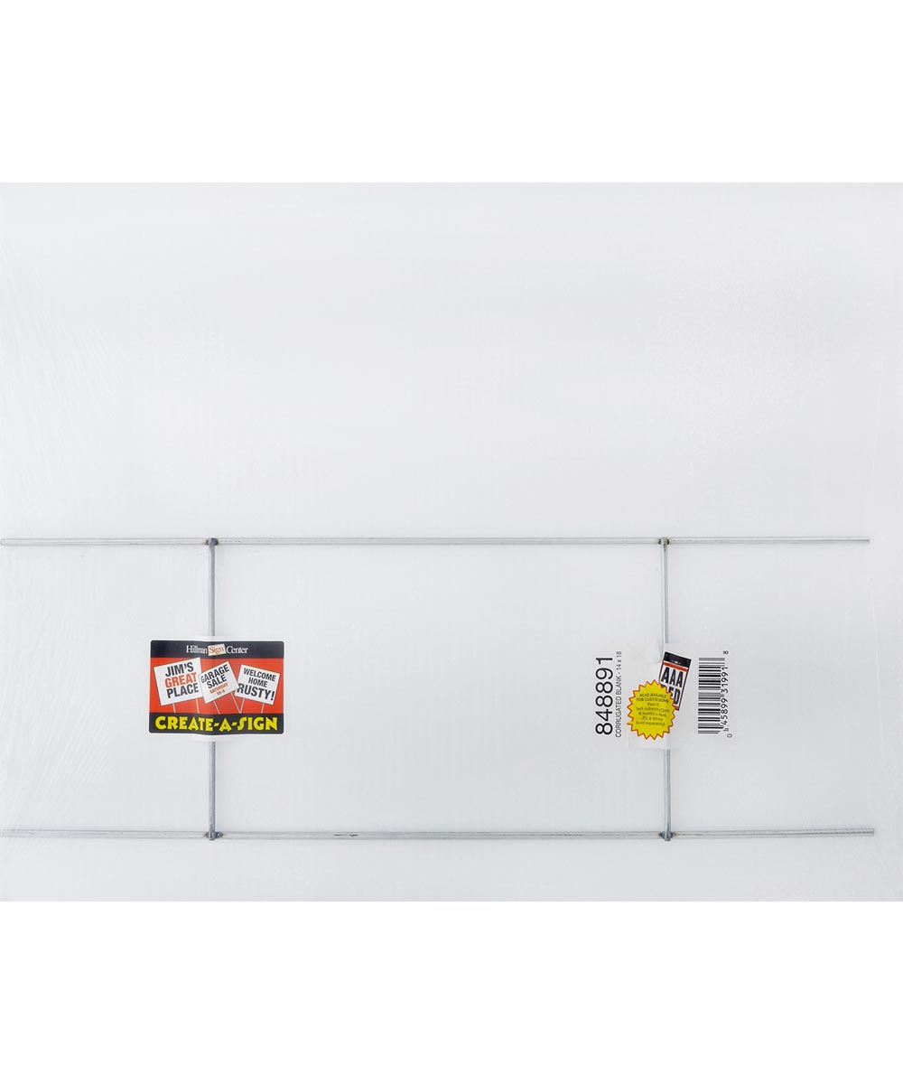 18.3 in. Blank Corrugated Sign