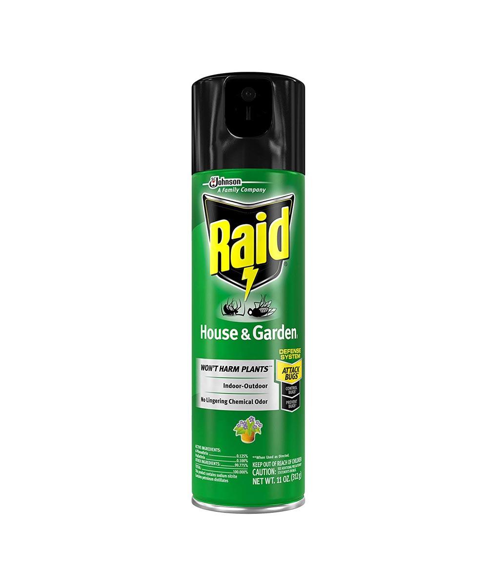 Raid House Garden Indoor Outdoor Bug Spray 11 Oz City Mill