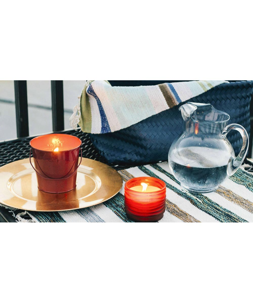 Tiki Frosted Glass Votive Citronella Candle, Assorted Colors