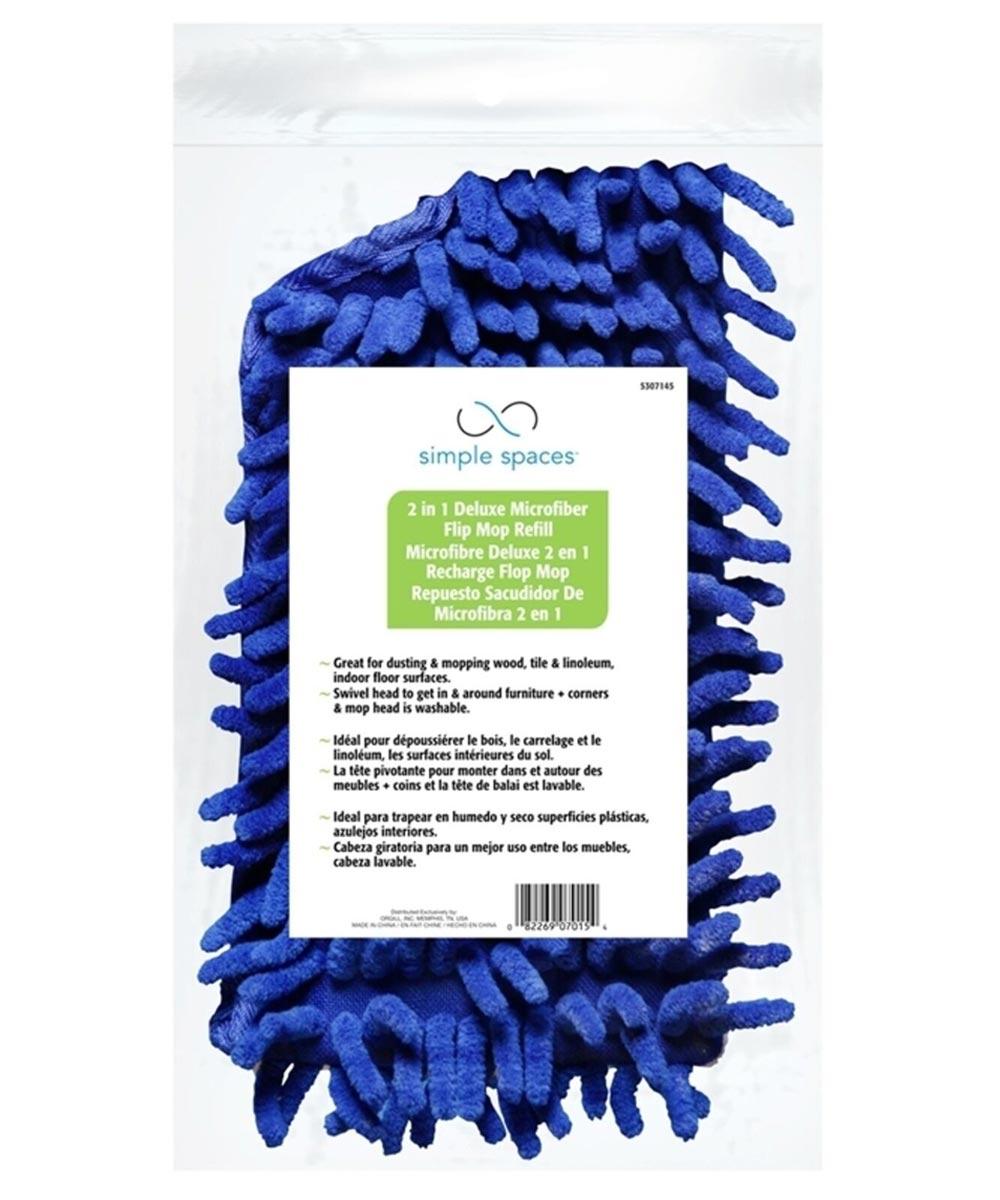 Replacement Mop Head Refill for CleanX Deluxe Microfiber 2-in-1 Flip Mop