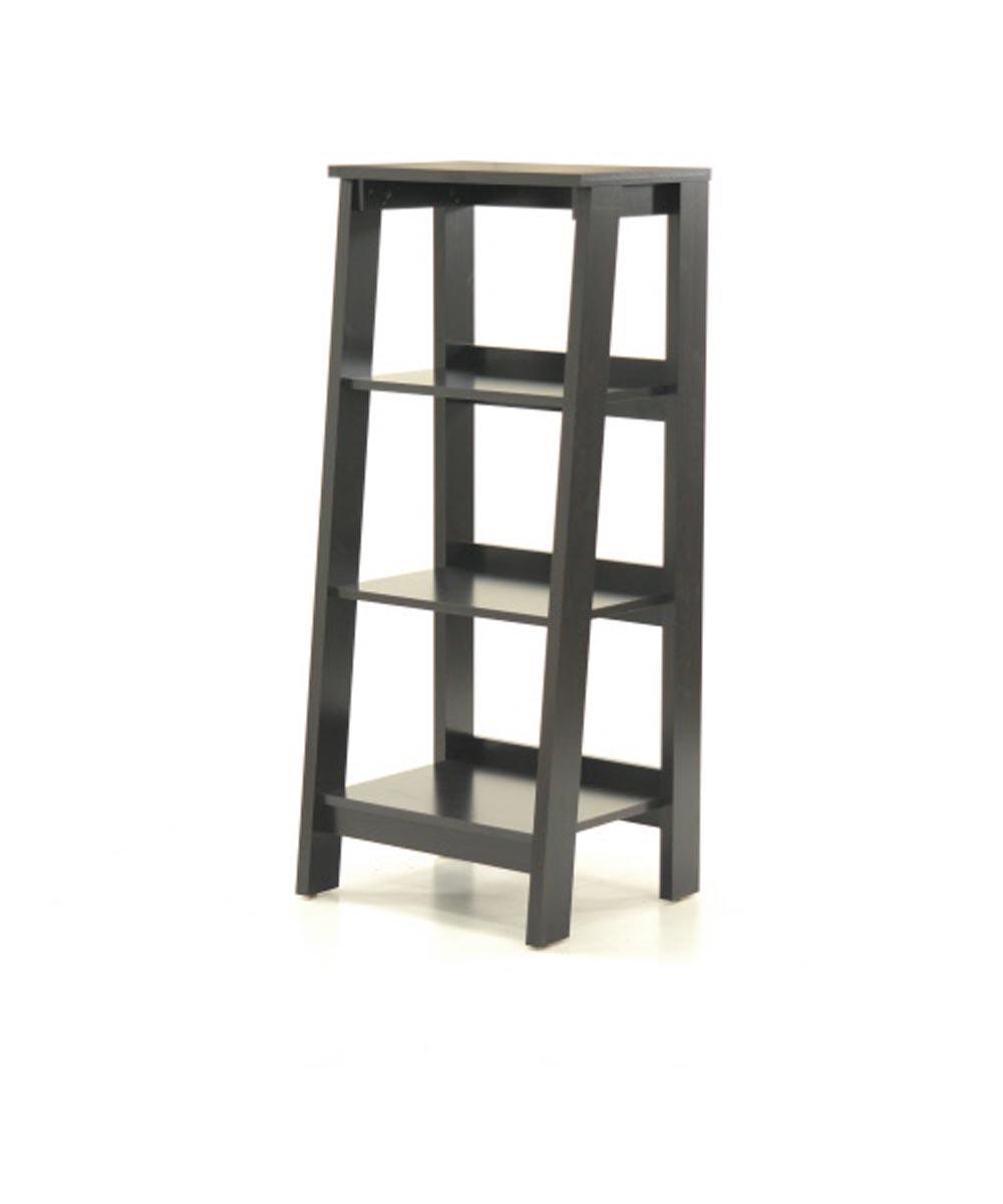 Trestle 3-Shelf Bookcase, Jamocha Finish