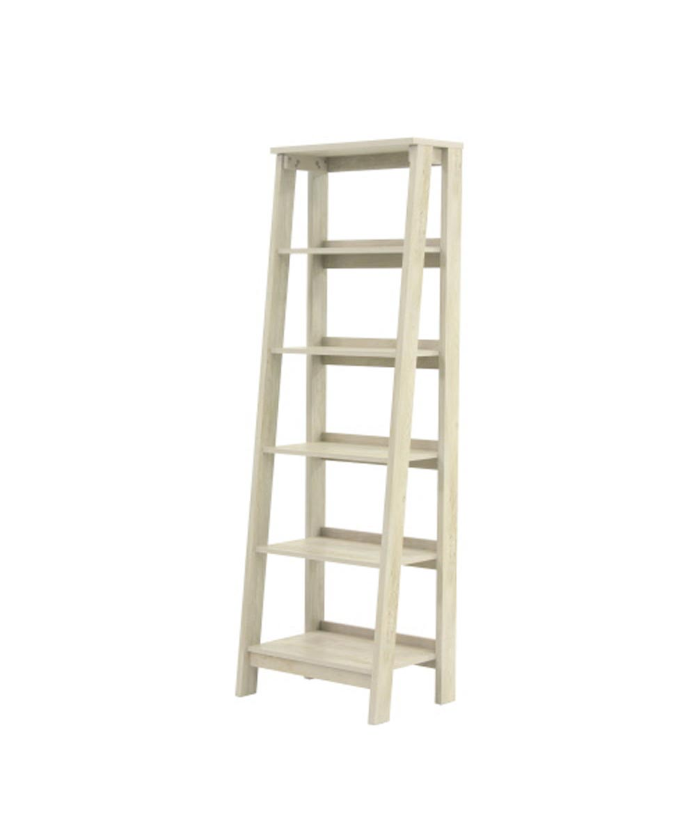 Trestle 5-Shelf Bookcase, Chalked Chestnut Finish
