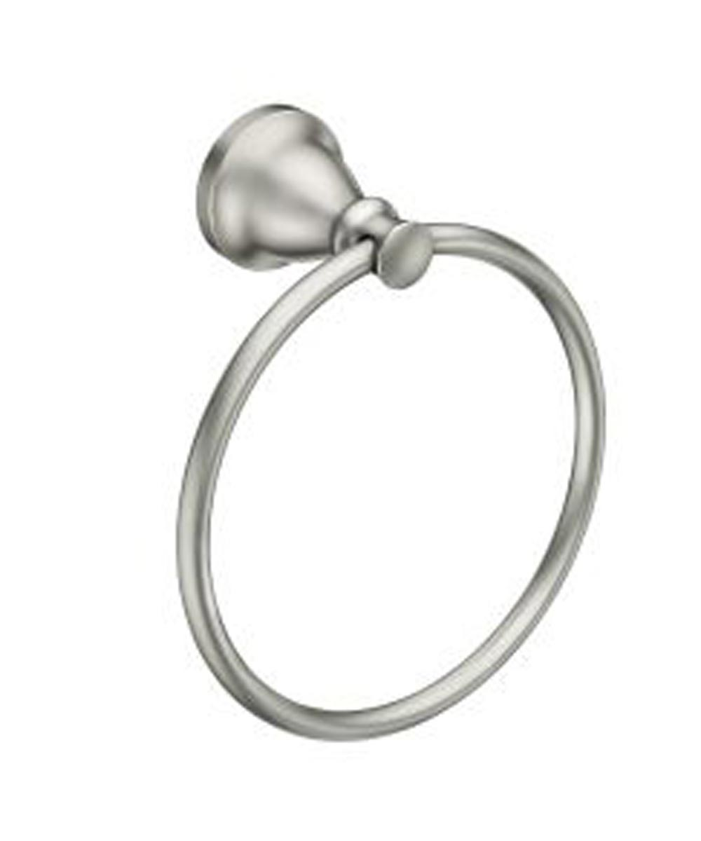 Hilliard Brushed Nickel Towel Ring