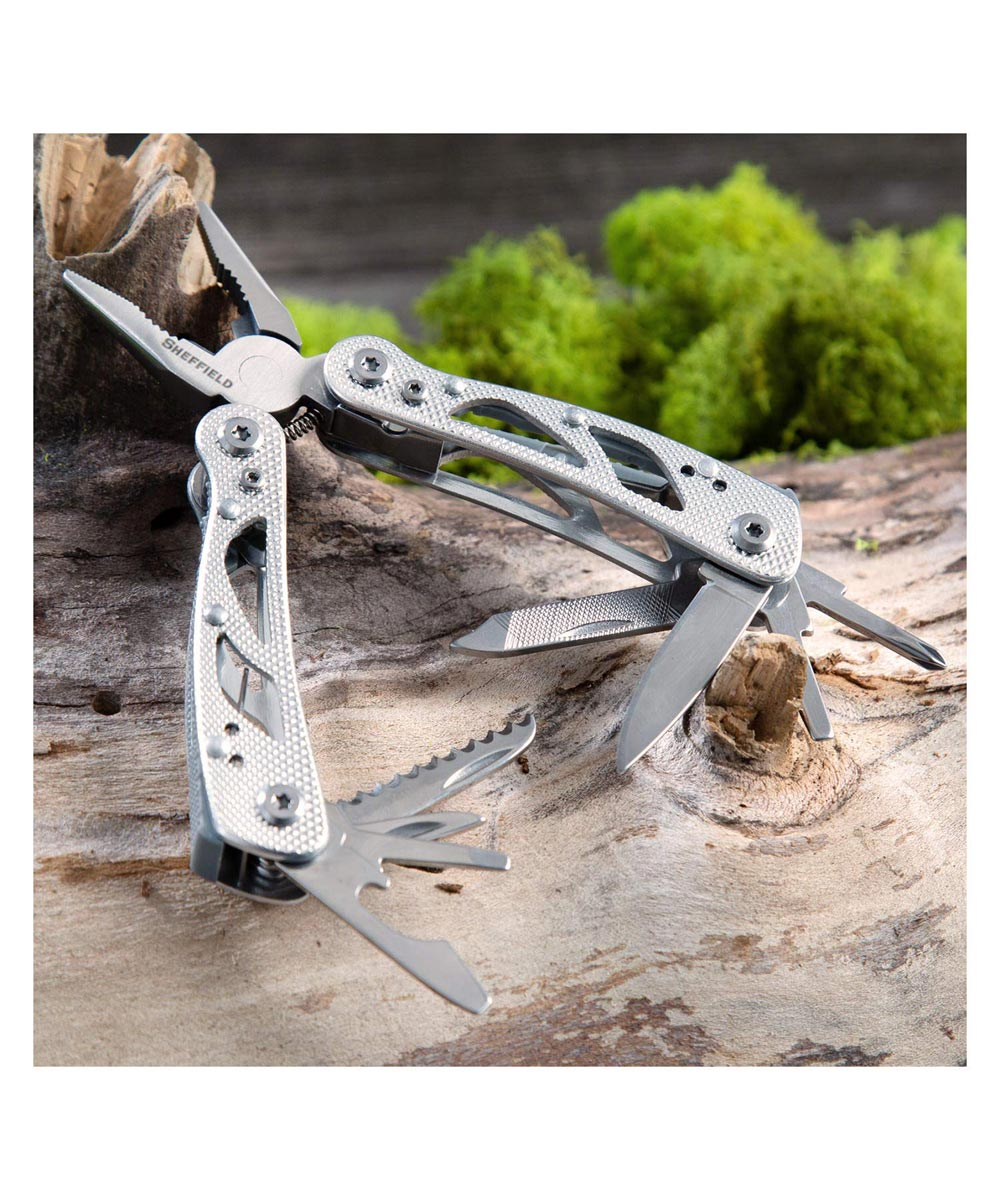 Sheffield Premium 12-in-1 Multi Tool, Silver