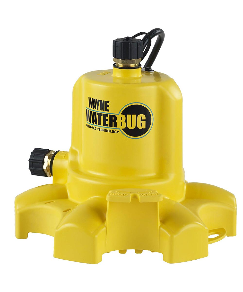 Wayne WaterBUG Submersible Water Pump with Multi-Flo Technology