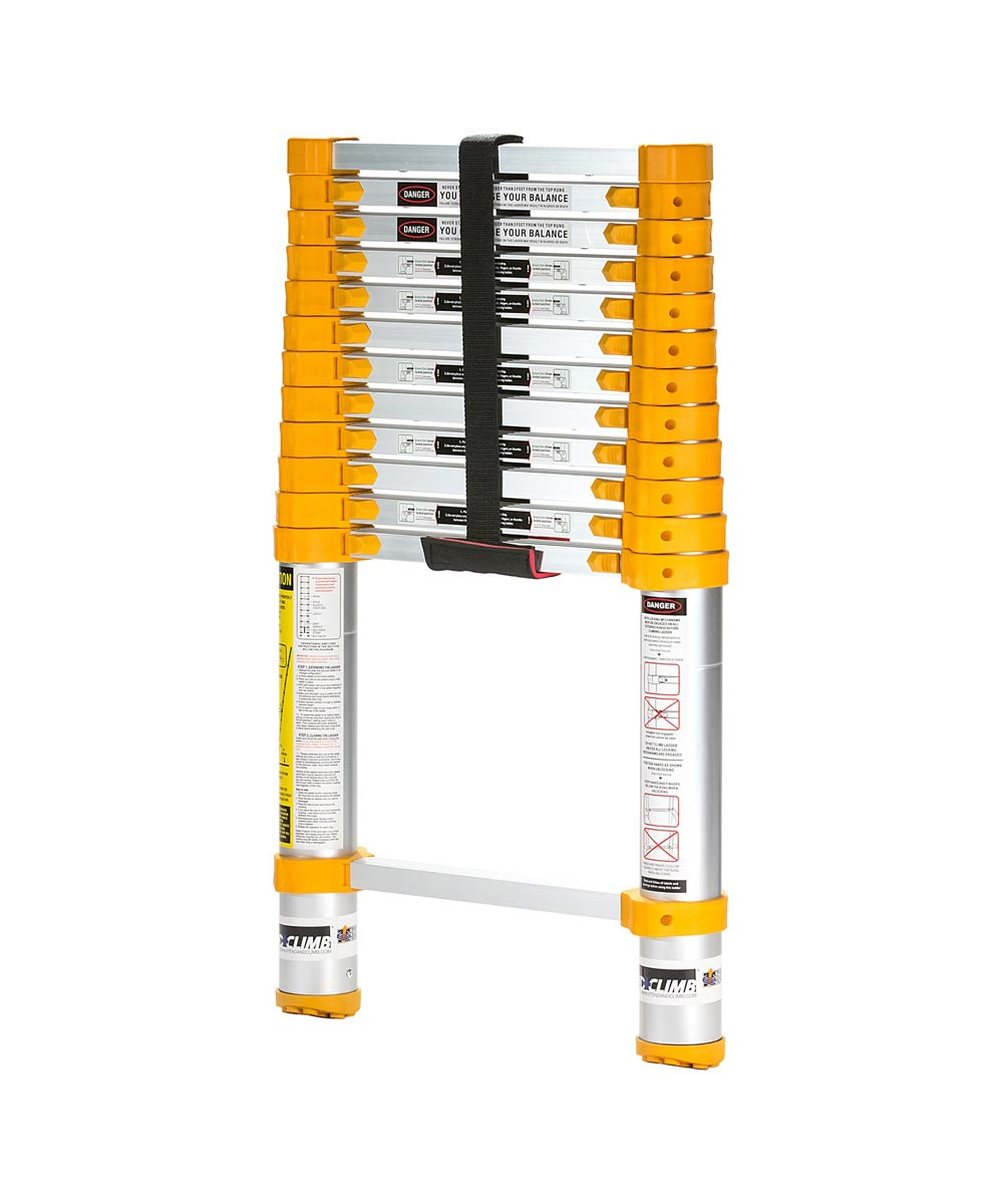 Xtend and Climb 12.5 ft. Telescoping Aluminum Extension Ladder, ANSI Type II 225 lb. Load Capacity