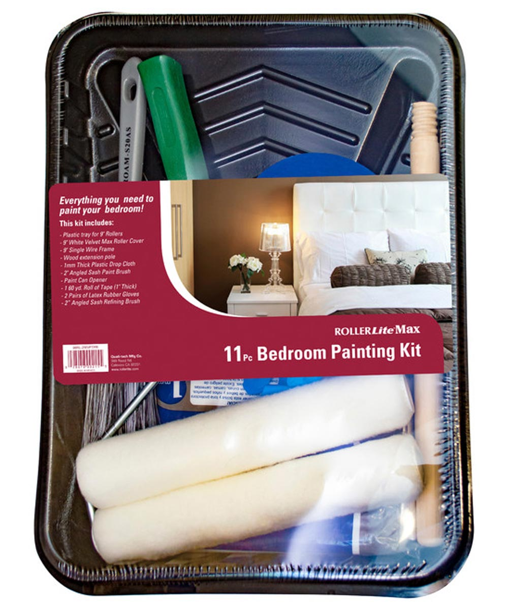 RollerLite 11 Piece Easy Paint Kit For Bedrooms