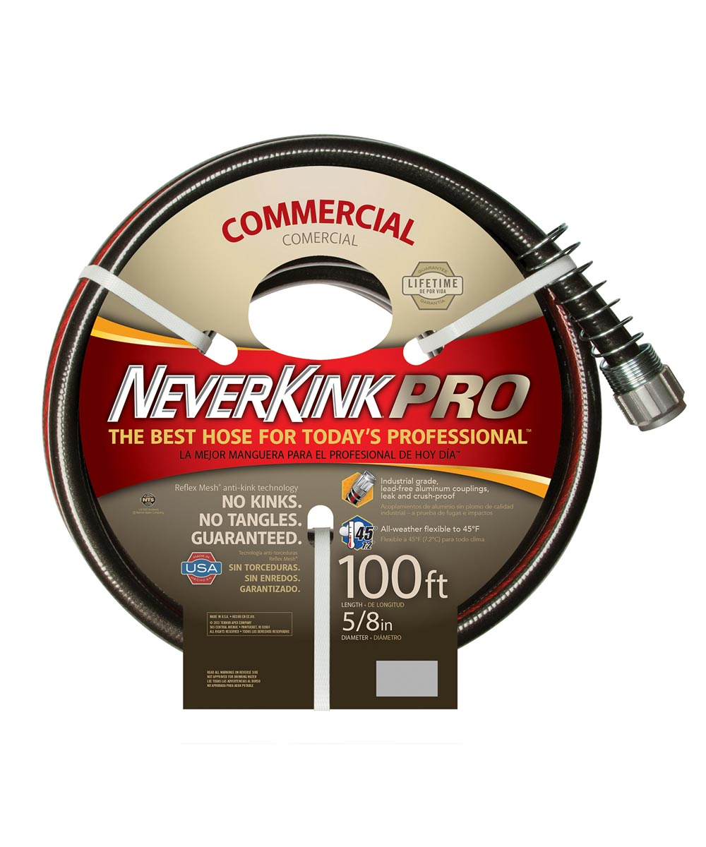 Apex 5/8 in. x 100 ft. Commercial Duty NeverKink Pro Water Hose
