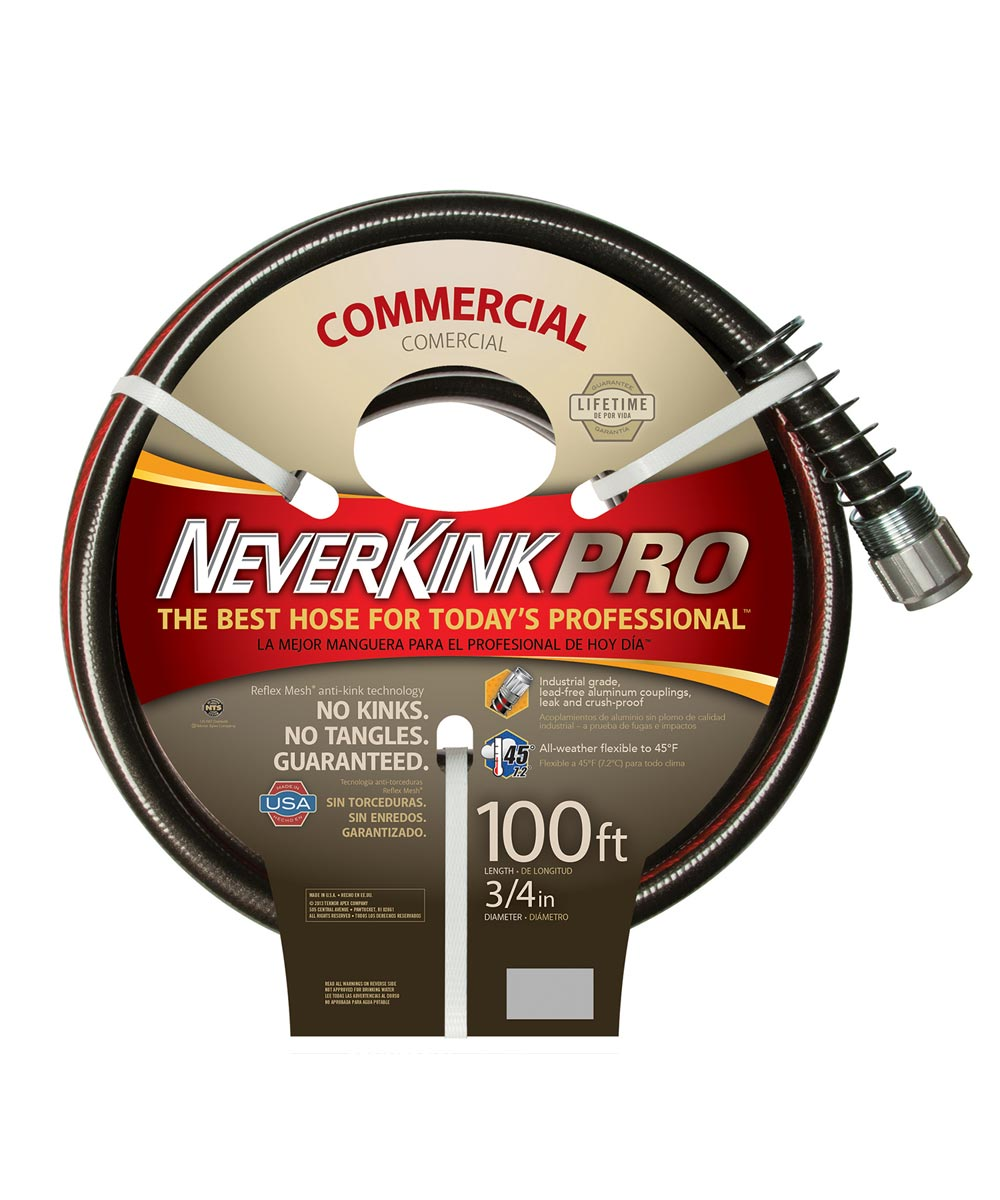 Apex 3/4 in. x 100 ft. Commercial Duty NeverKink Pro Water Hose