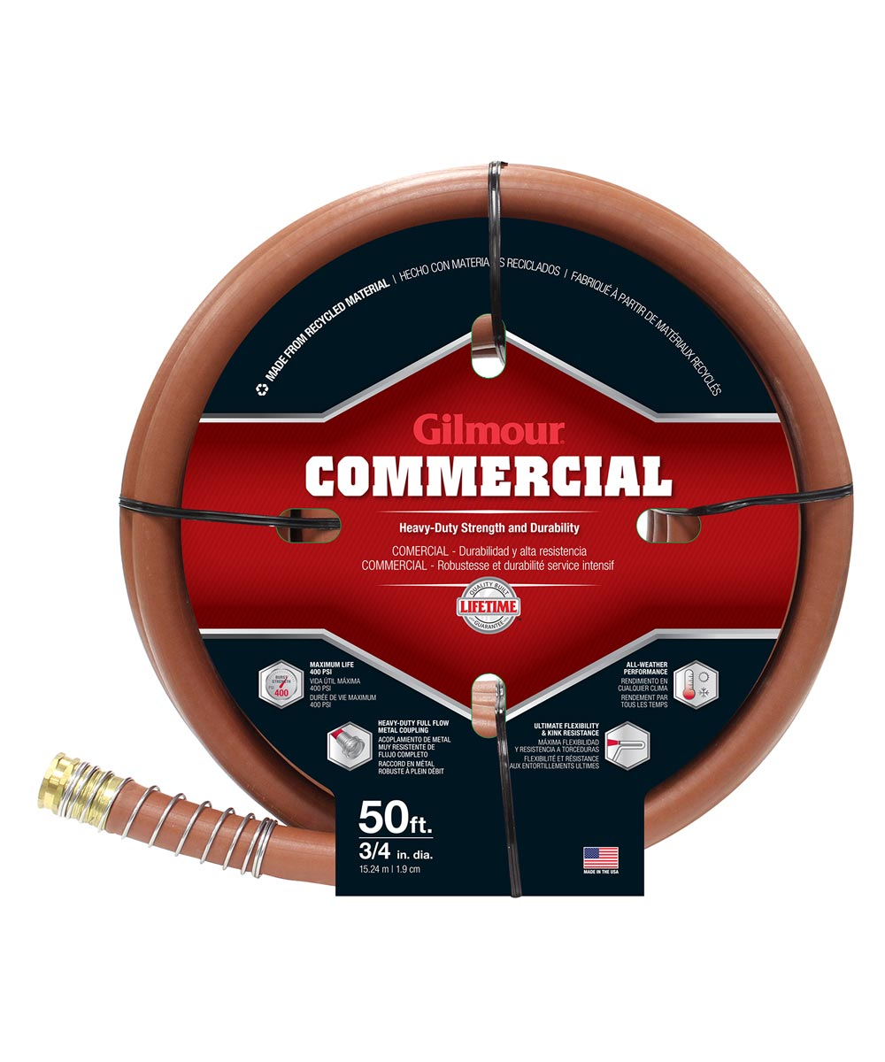 Gilmour 3/4 in. x 50 ft. Red Rubber & Vinyl Commercial Water Hose