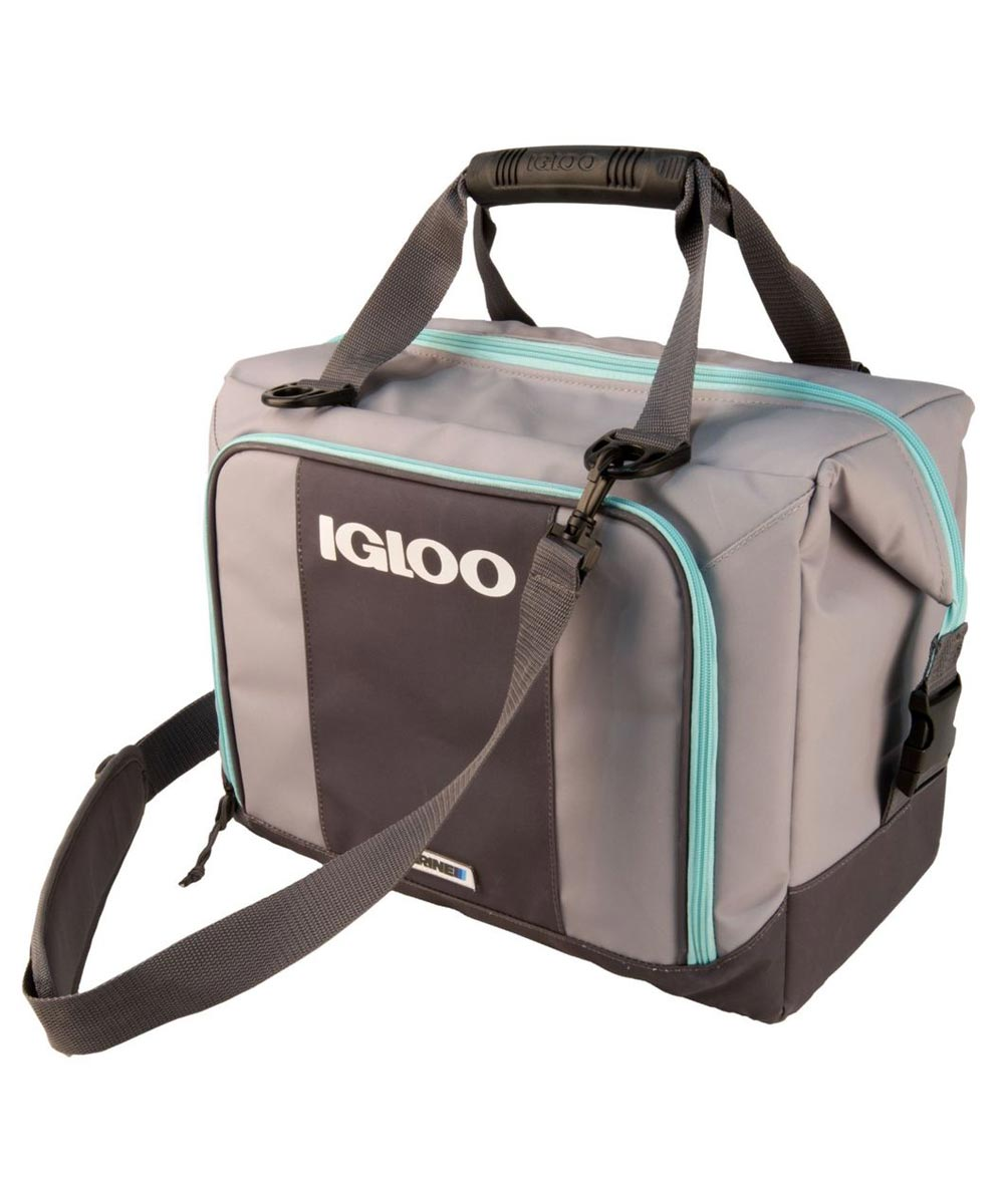 Igloo Marine Ultra Snapdown 36-Can Cooler Bag, Gray/Seafoam