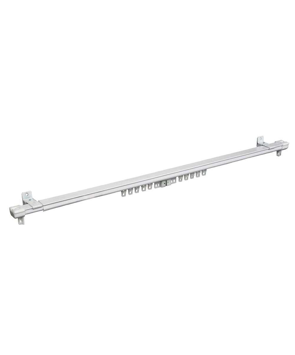 Kenney 40 in. - 78 in. Adjustable White Cordless Regency Traverse Curtain Rod