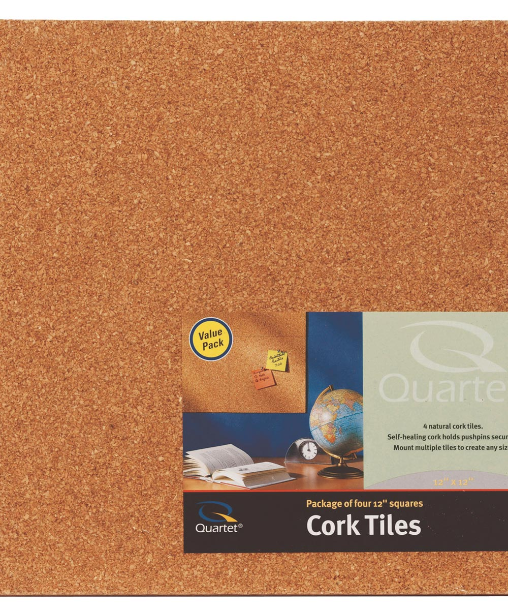 12 in. x 12 in. x 1/4 in. Natural Cork Tiles 4 Pack