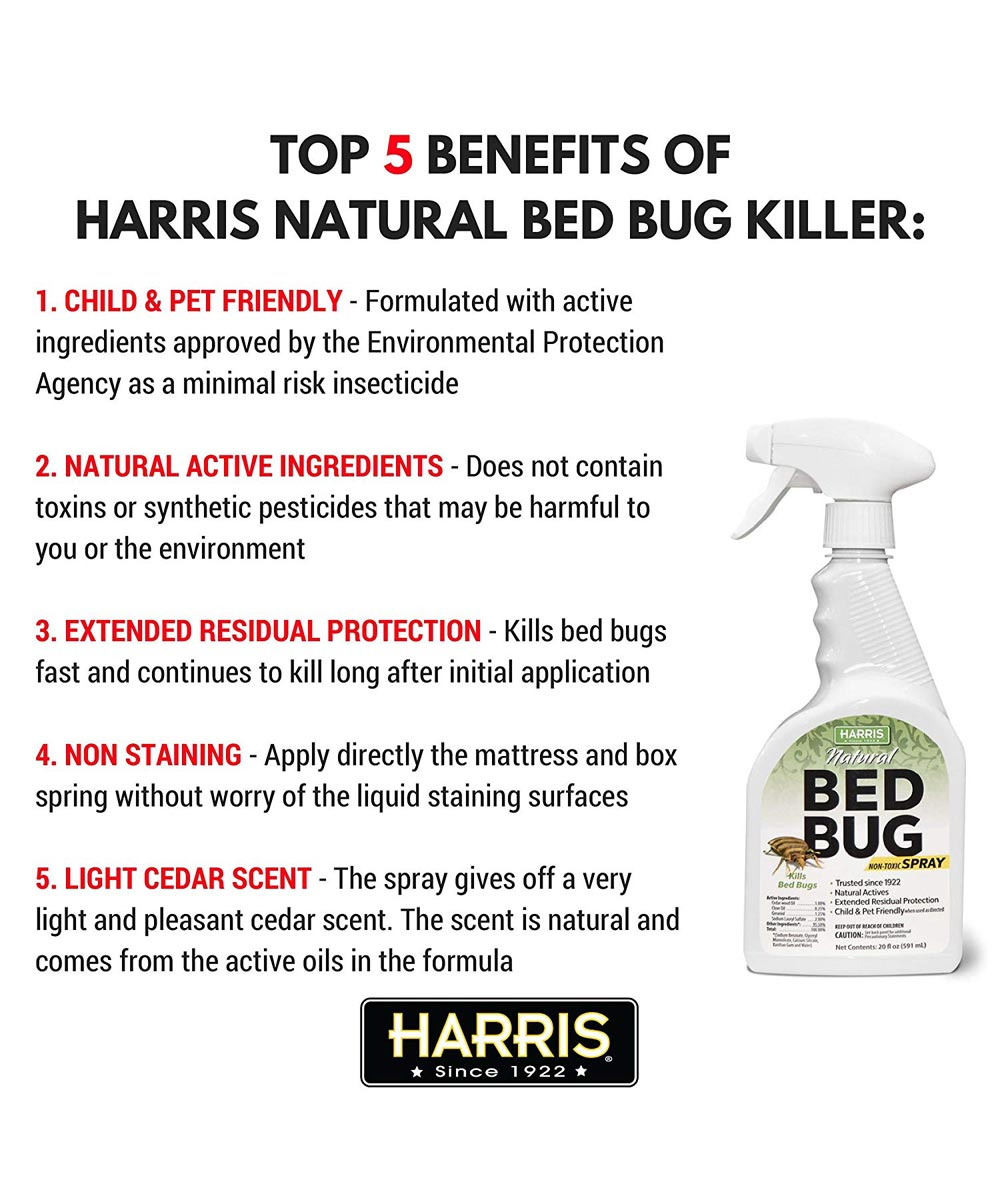 Harris Natural Bed Bug Killer Spray, 20oz