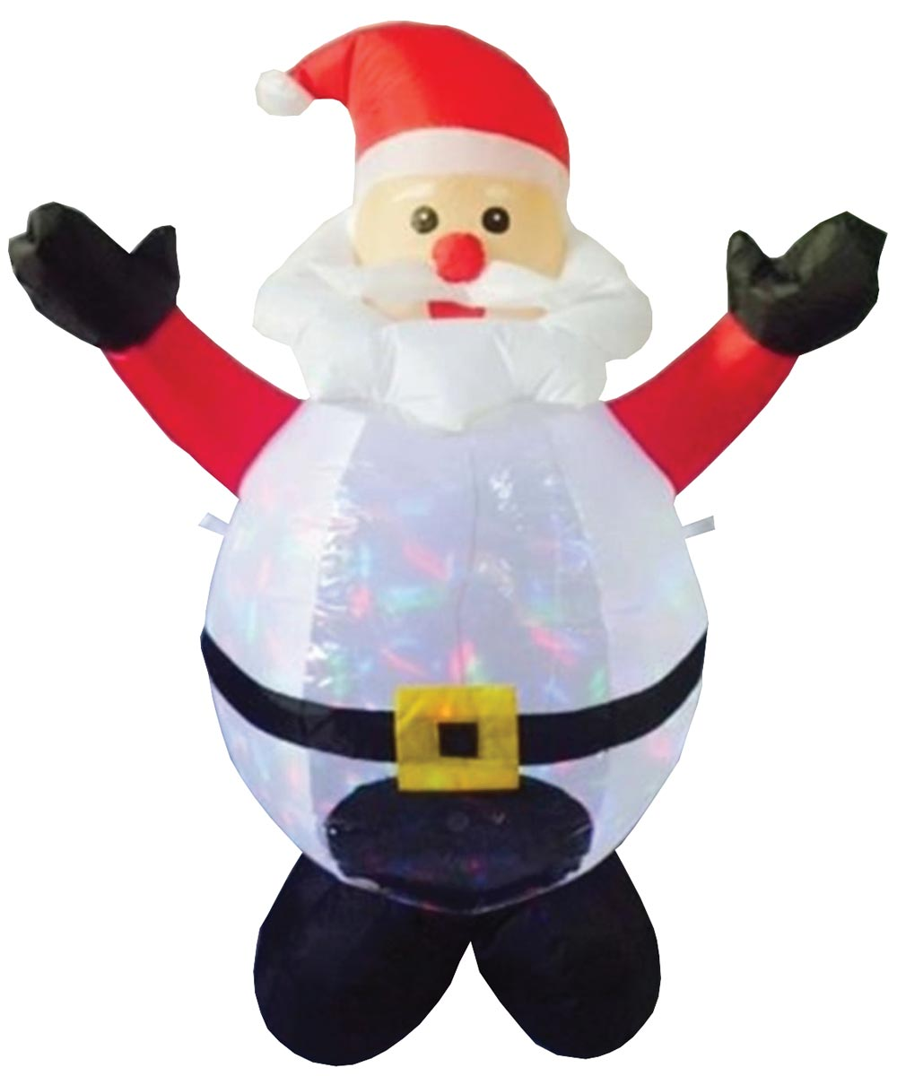 4 ft. Inflatable Christmas Santa Clause with Internal Projector