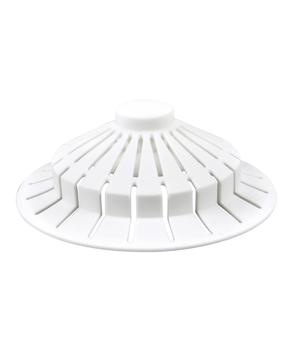 Danco 4 in. x 1.5 in. White Bathtub Hair Catcher With Suction Cup