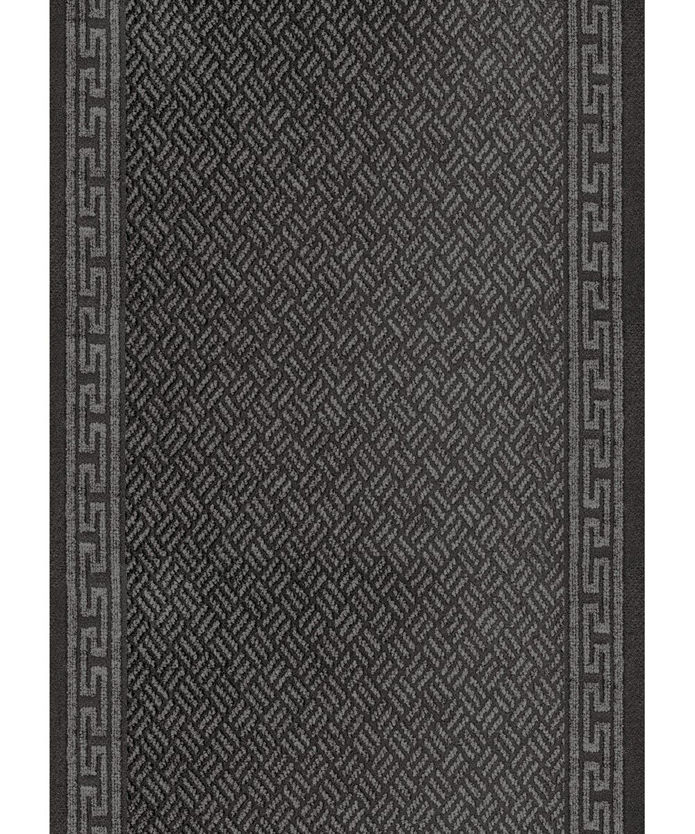 Multy 26 in. Grey Greek Key Floor Mat Runner (Sold per Foot)