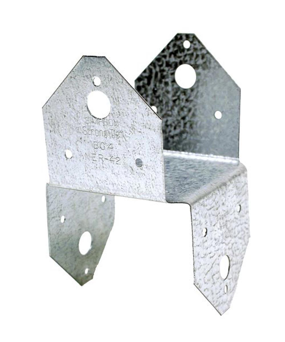 18 Gauge Galvanized 4x Post Cap / Base with ZMAX Coating