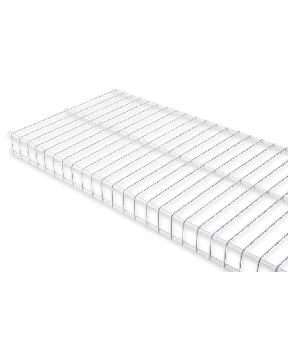 Rubbermaid 6 ft. x 12 in. White Linen Wire Shelf
