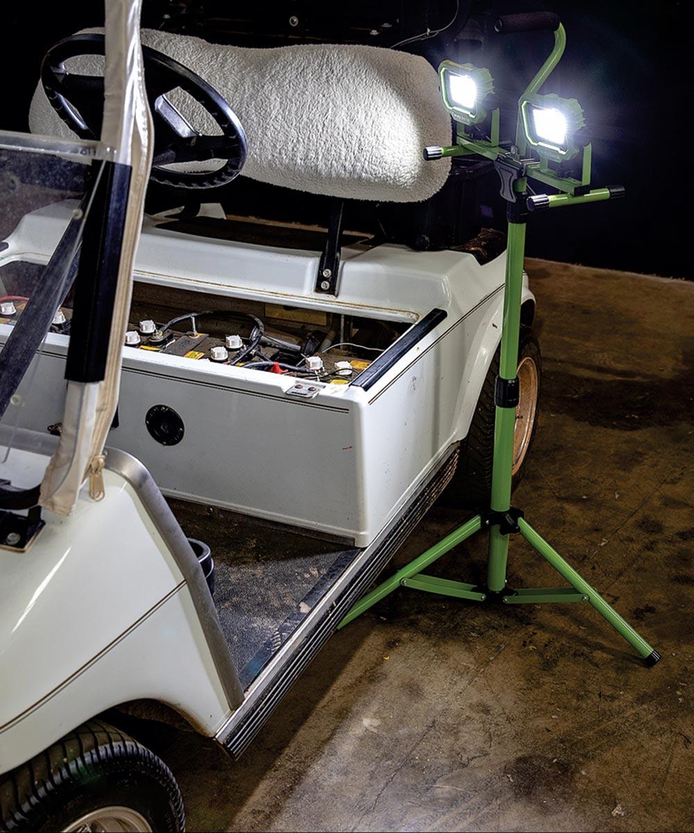 PowerSmith 4,200 Lumen Dual-Head LED Work Light with Tripod