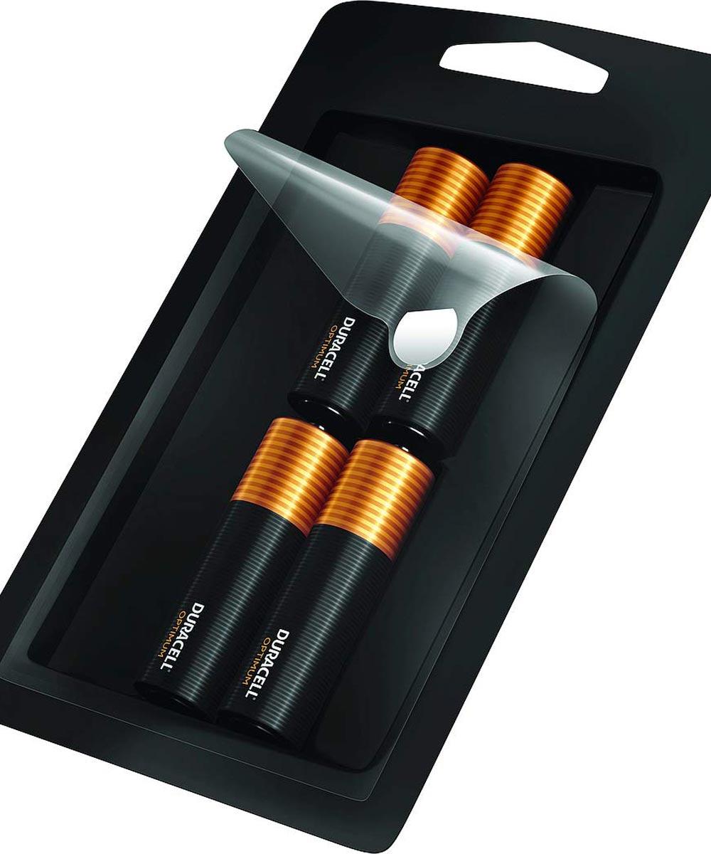 Duracell Optimum AA 1.5V Alkaline Batteries, 4 Pack
