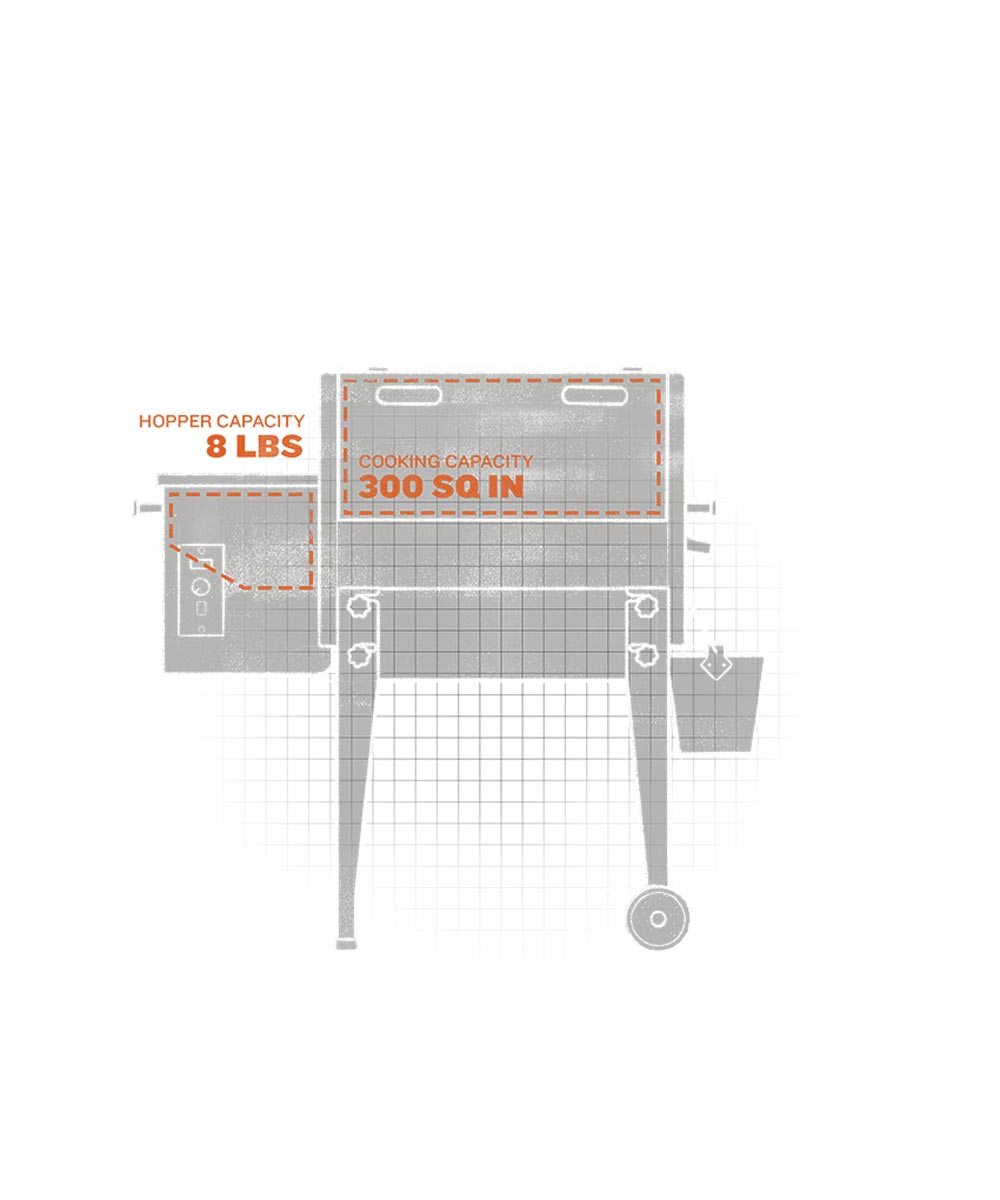 Tailgater Pellet Grill and Smoker, Bronze