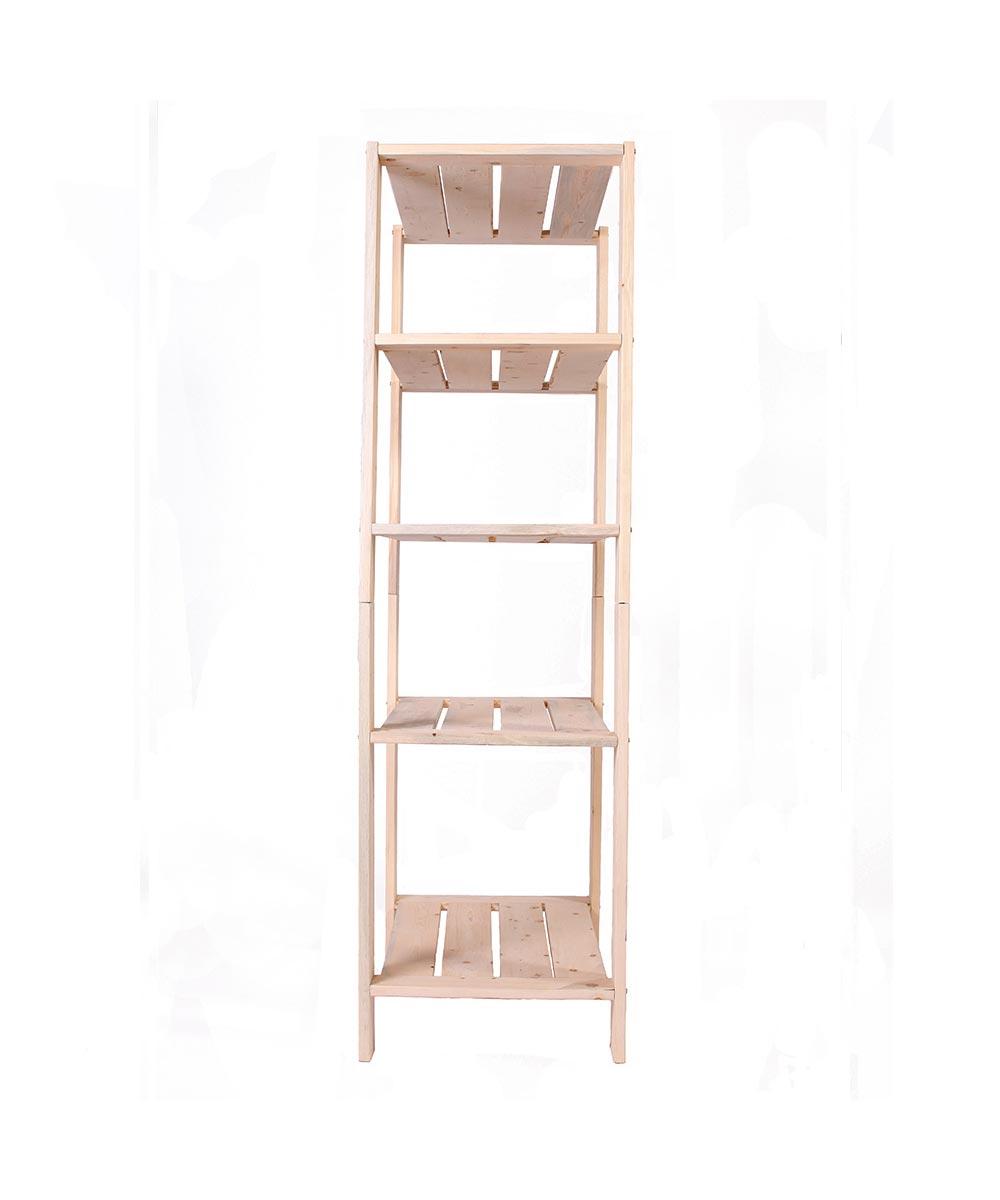 Pine Wood 5 Shelf Storage 17.5 x 30 x 60