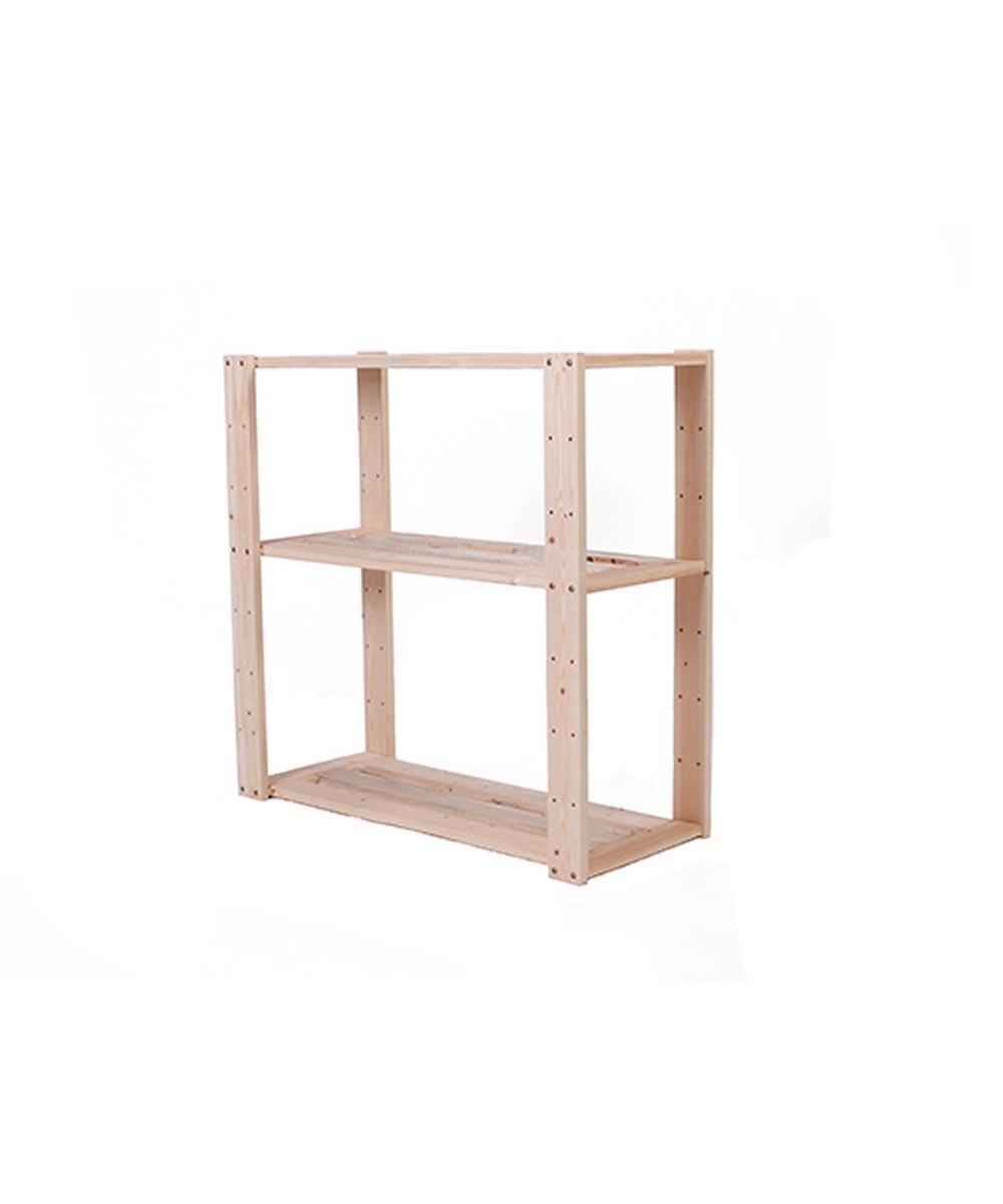 Pine Wood 3 Shelf Storage13.5 x 30 x 30