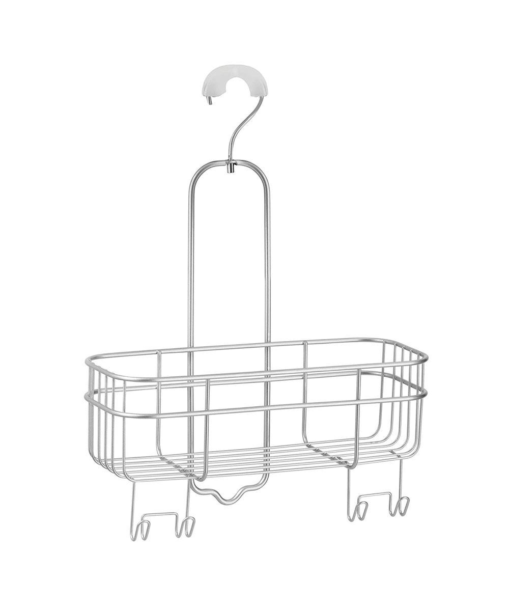 InterDesign Euro Metal Hanging Bathroom Shower Caddy with Swivel Hook