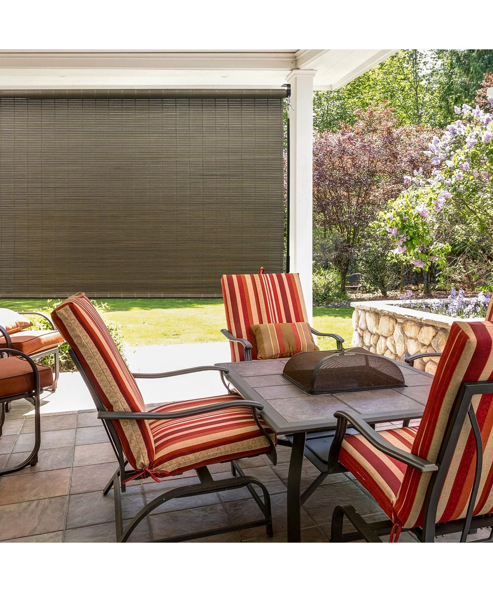 Indoor Outdoor Window Blinds Natural Roll Up Shade Sun 72 in W x 72 in L