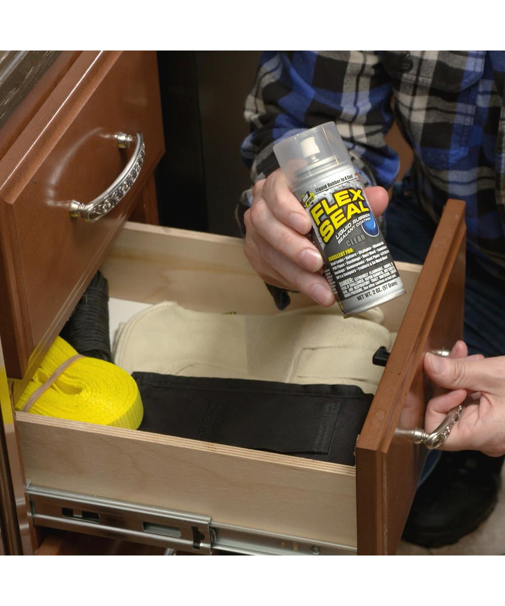 2 oz. Flex Seal MINI Spray Liquid Rubber Sealant Coating, White
