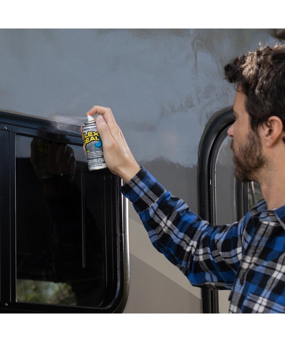 2 oz. Flex Seal MINI Spray Liquid Rubber Sealant Coating, Black