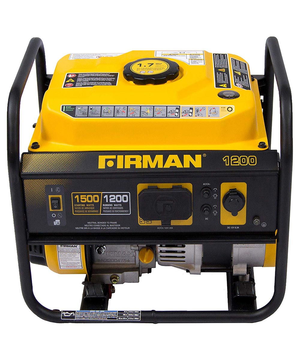 Firman 1500/1200 Watt Recoil Start Gas Portable Generator