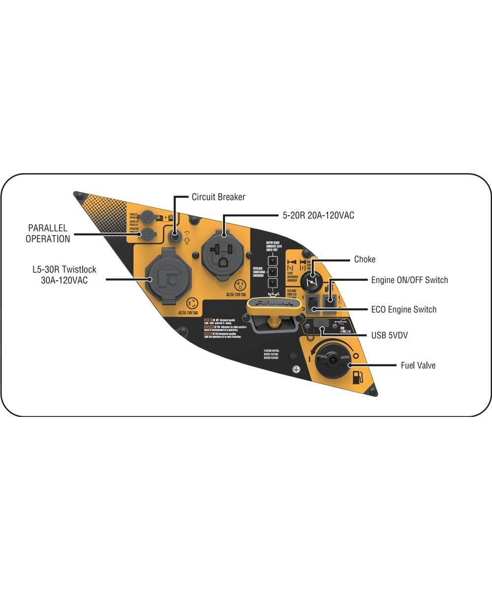 Firman 2100/1700 Watt Recoil Start Gas Portable Inverter Generator with Built-In Parallel Kit