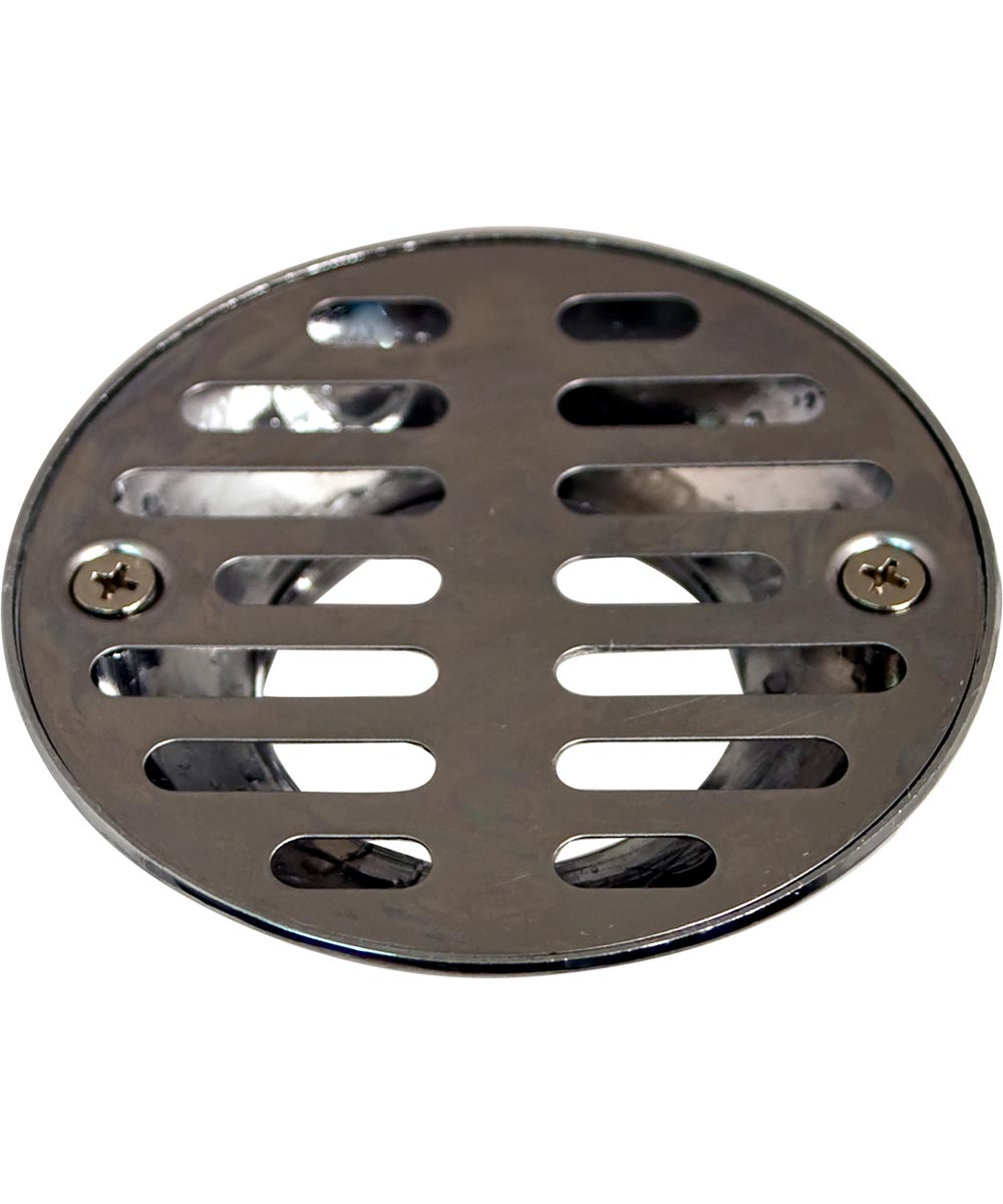 Shower Drain Cover with 3-1/2 in. Inlet & 1-1/2 in. FIP Outlet, Chrome Plated