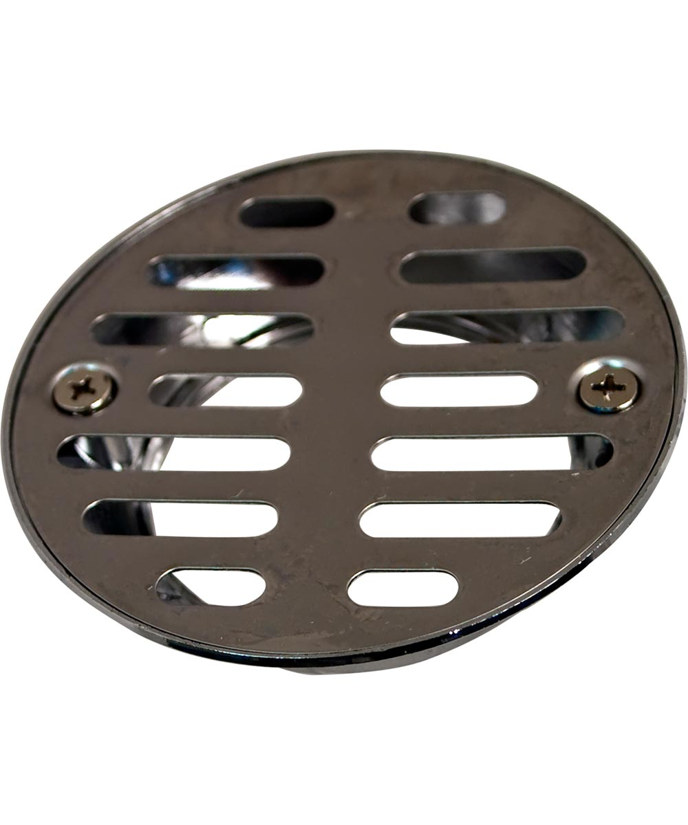 Shower Drain Cover with 3-1/2 in. Inlet & 2 in. FIP Outlet, Chrome Plated