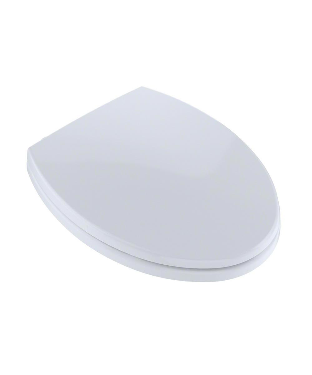 TOTO SoftClose Elongated Plastic Toilet Seat, Cotton White