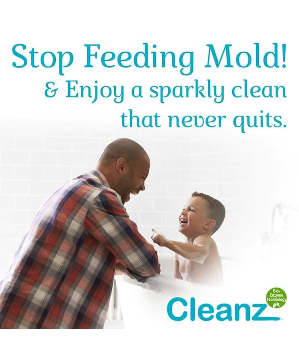 Cleanz White Kitchen & Bath Caulk with Active Enzymes, 10.5 oz.