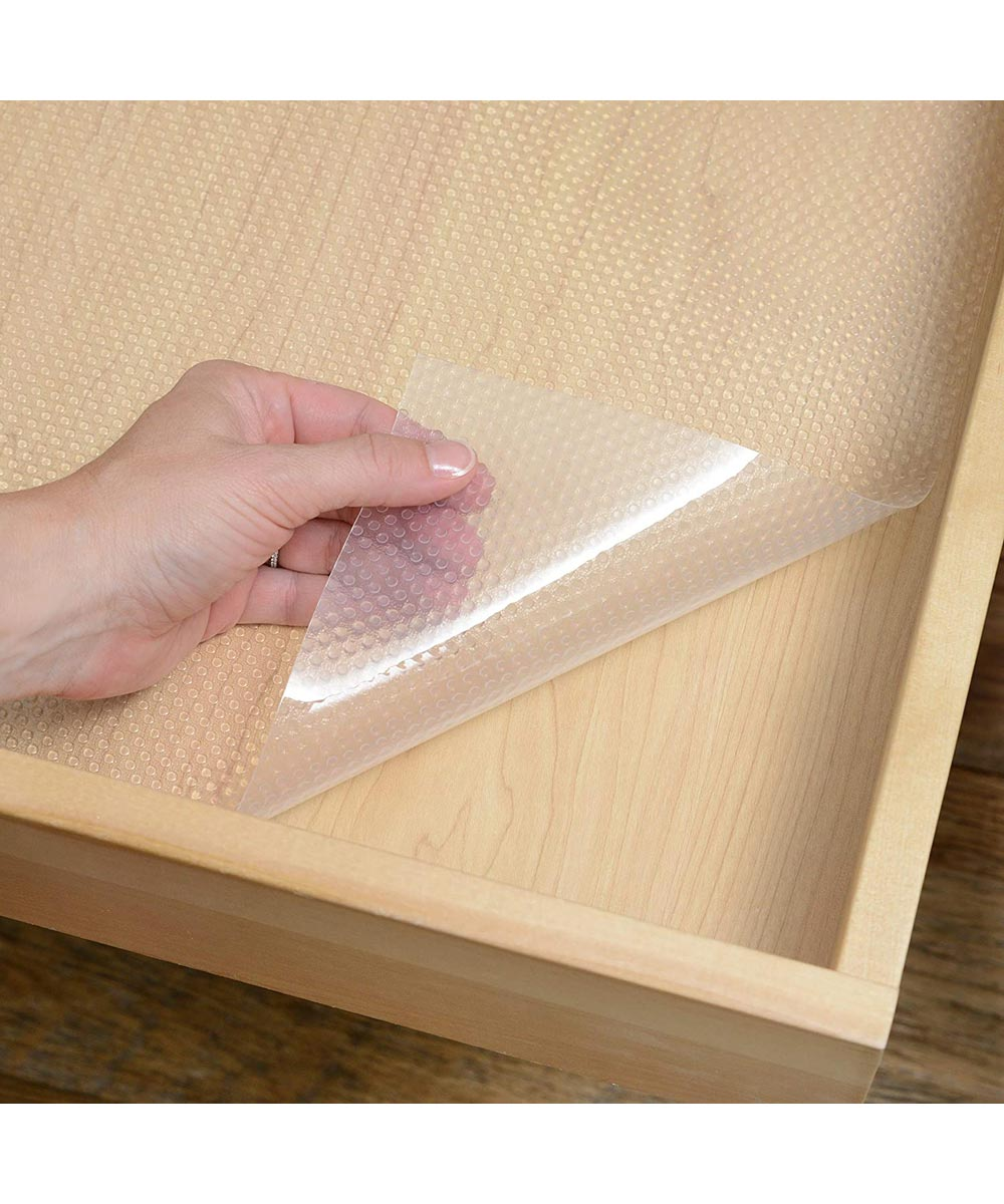 Con-Tact Premium Plus Shelf Liner, Non-Adhesive, Clear, 18 in. x 6 ft.