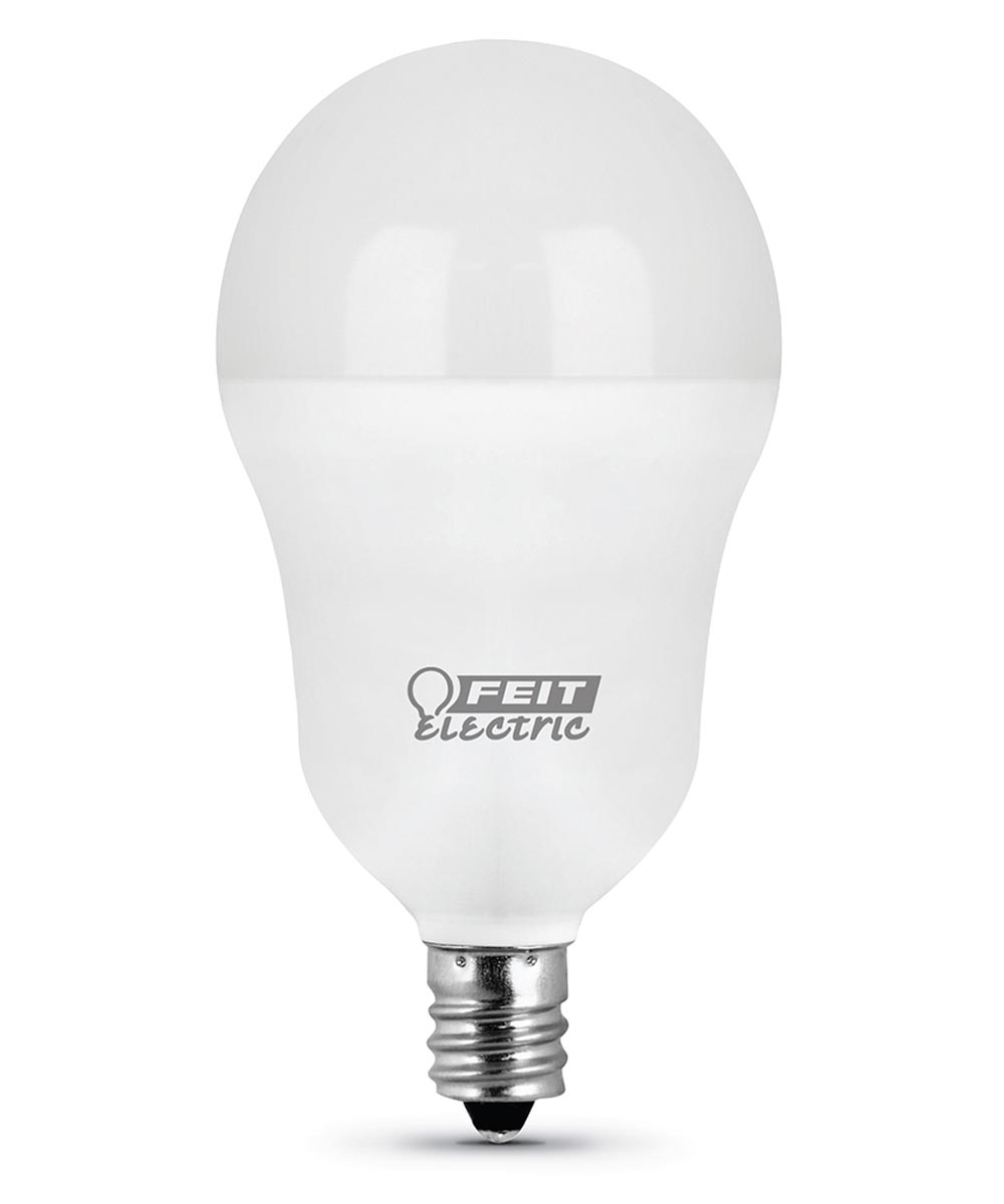 Feit Electric 5 Watt E12 A15 3000K Warm White LED Non-Dimmable Light Bulbs, 3 Pack
