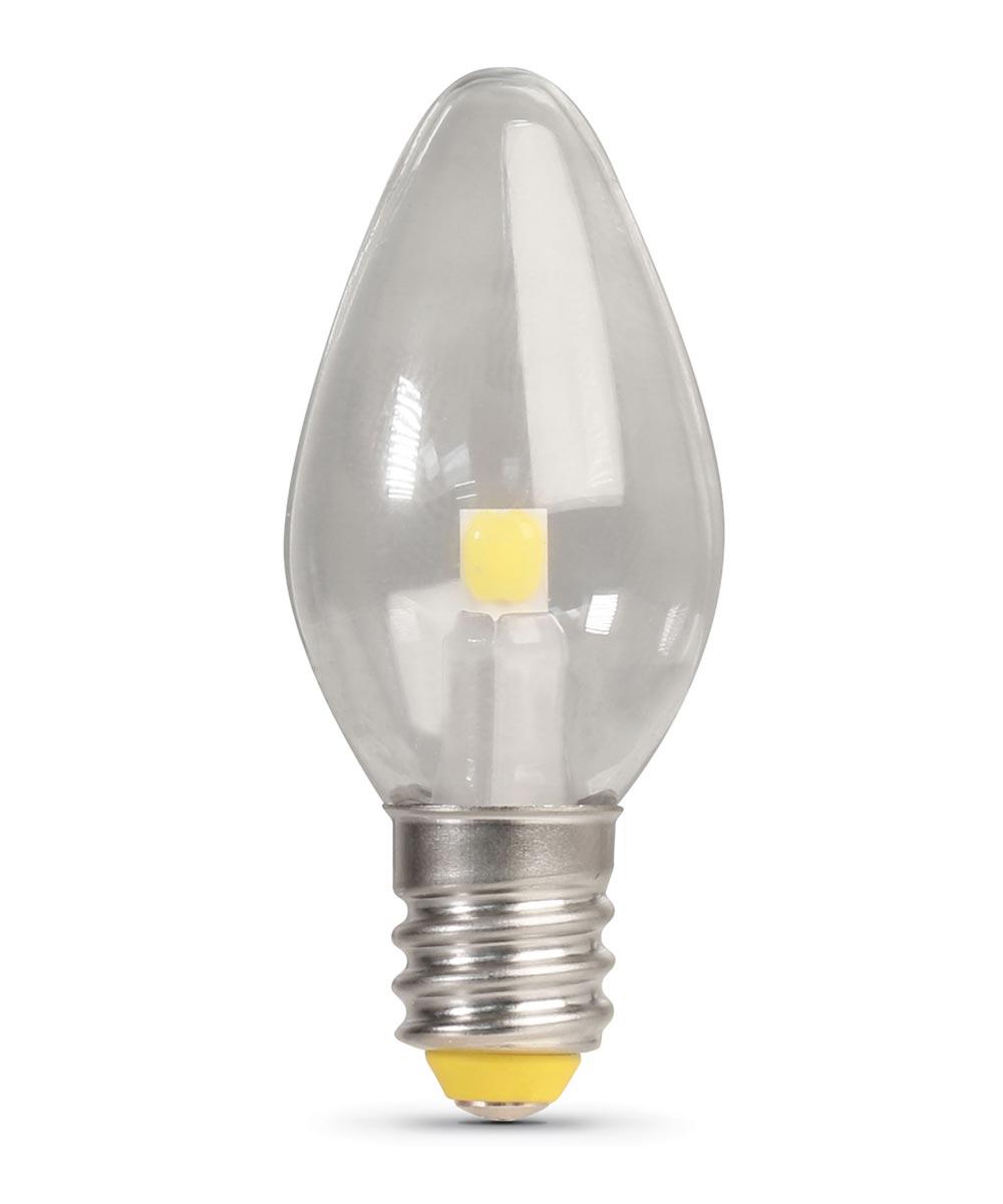 Feit Electric 0.7 Watt E12 C7 5000K Daylight LED Non-Dimmable Night Light Bulbs, 4 Pack