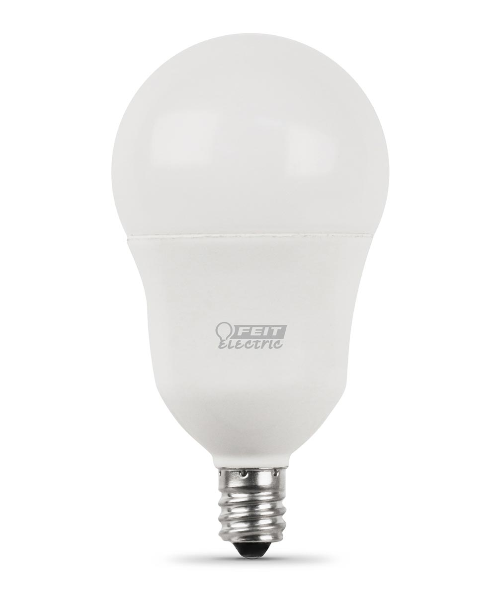Feit Electric 5 Watt E12 A15 2700K Soft White LED Dimmable Light Bulbs, 2 Pack