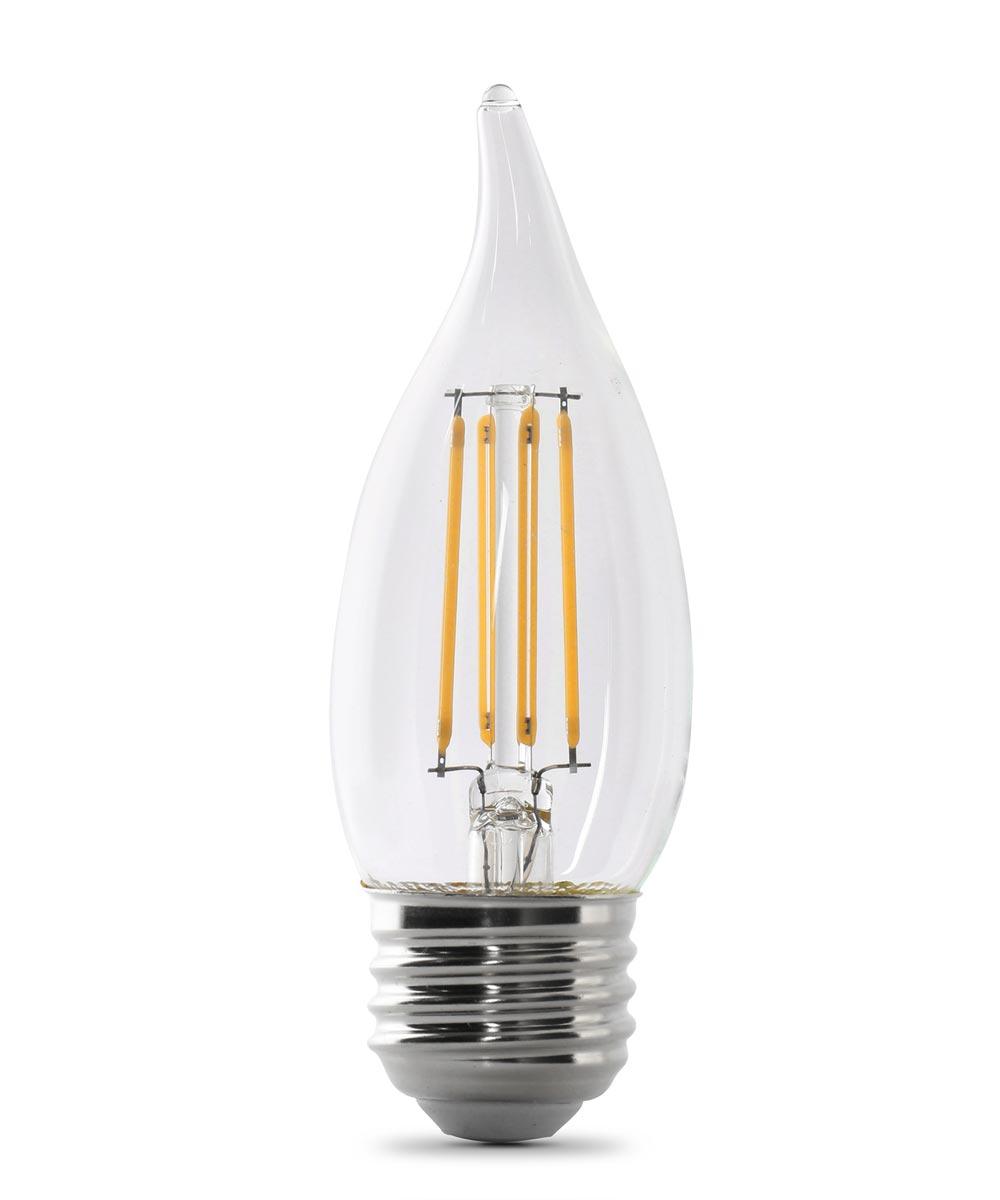 Feit Electric 5.5 Watt E26 CA10 5000K Daylight LED Dimmable Light Bulbs, 2 Pack
