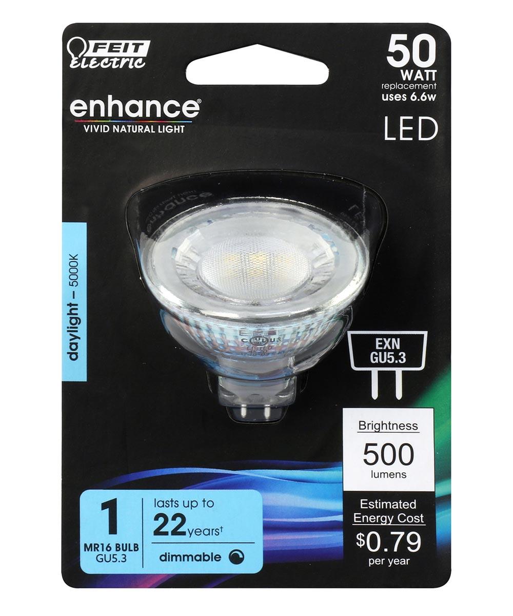 Feit Electric 6.6 Watt GU5.3 MR16 5000K Daylight LED Dimmable Light Bulb