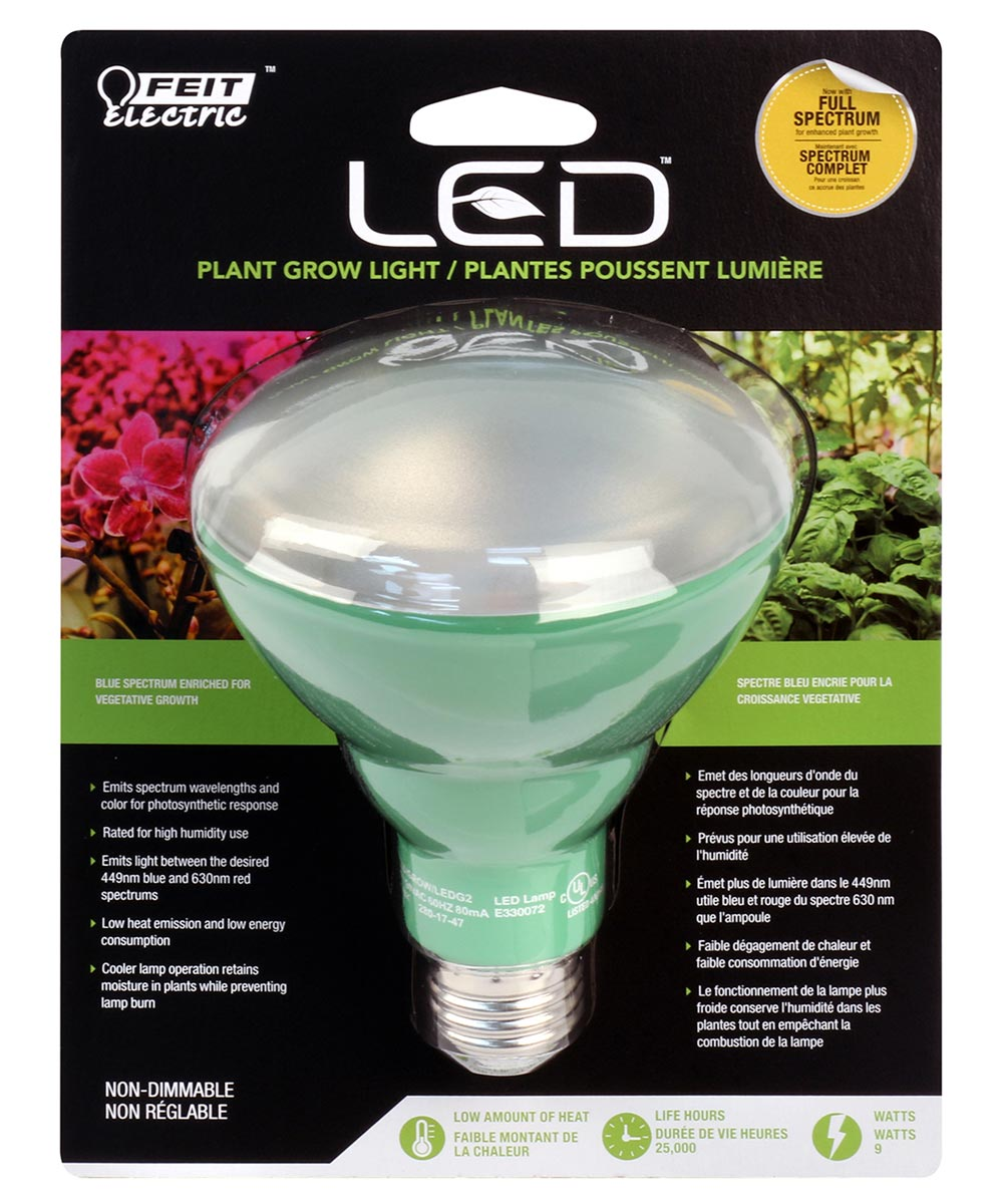Feit Electric 9 Watt E26 BR30 LED Non-Dimmable Plant Grow Light Bulb