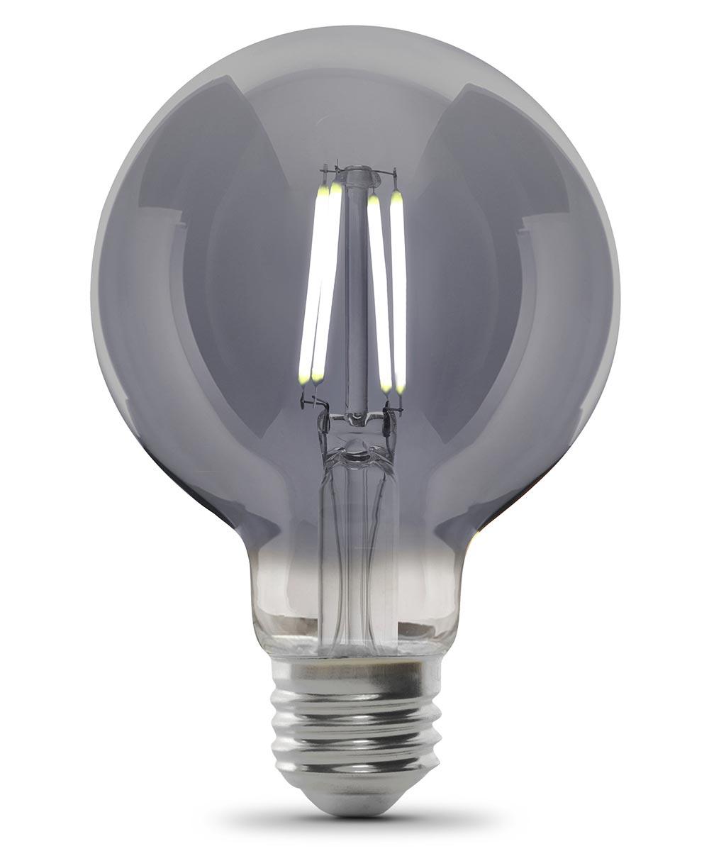 Feit Electric 5 Watt E26 G35 Smoke Glass 5000K Daylight LED Dimmable Light Bulb