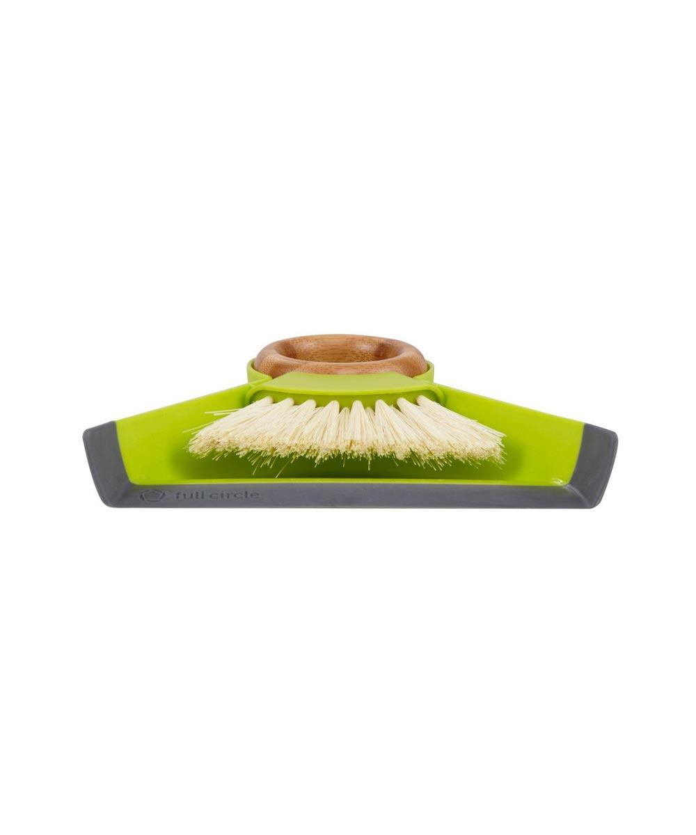 TINY TEAM Mini Brush & Dustpan Set, Green