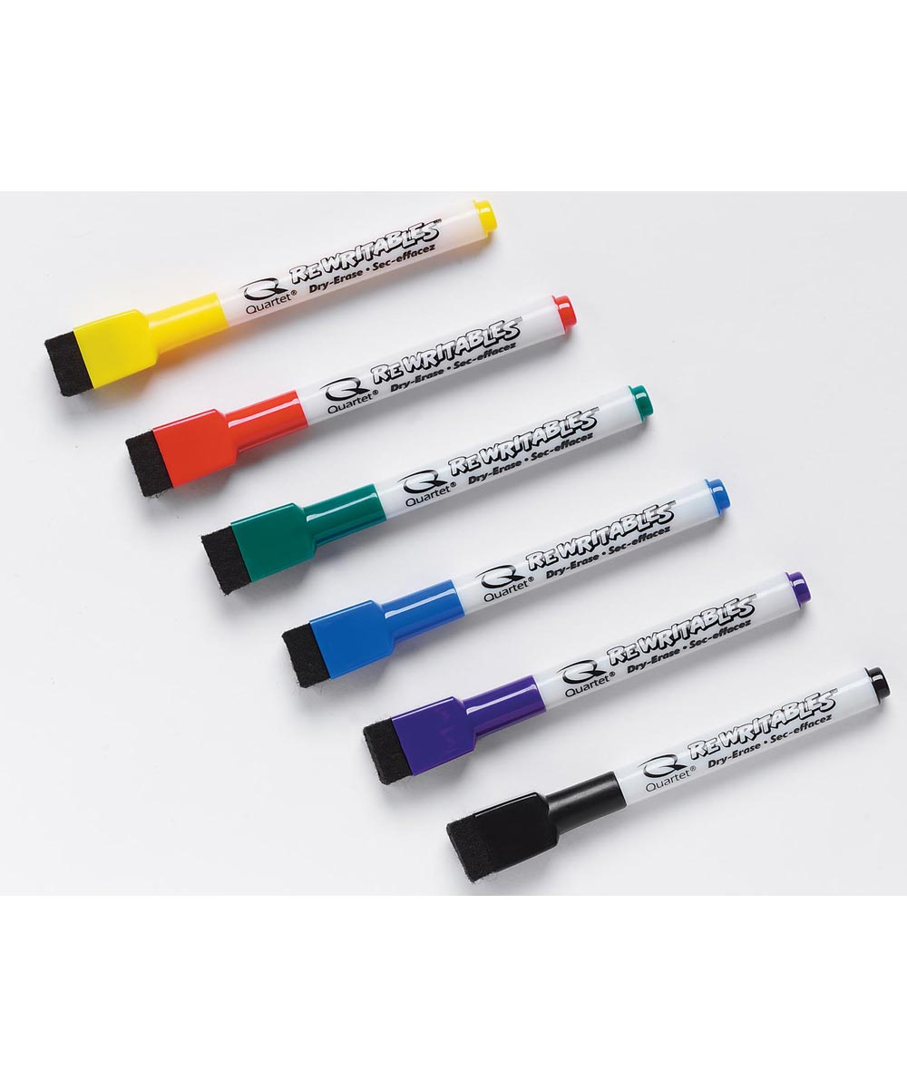 Low Odor Rewritables Dry Erase Mini Marker Set 6 Count